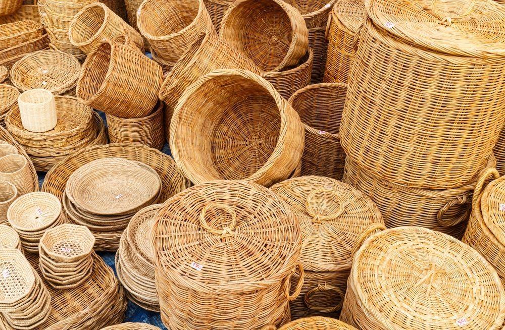 Bambus Körbe. (Bild: panyajampatong / Shutterstock.com)