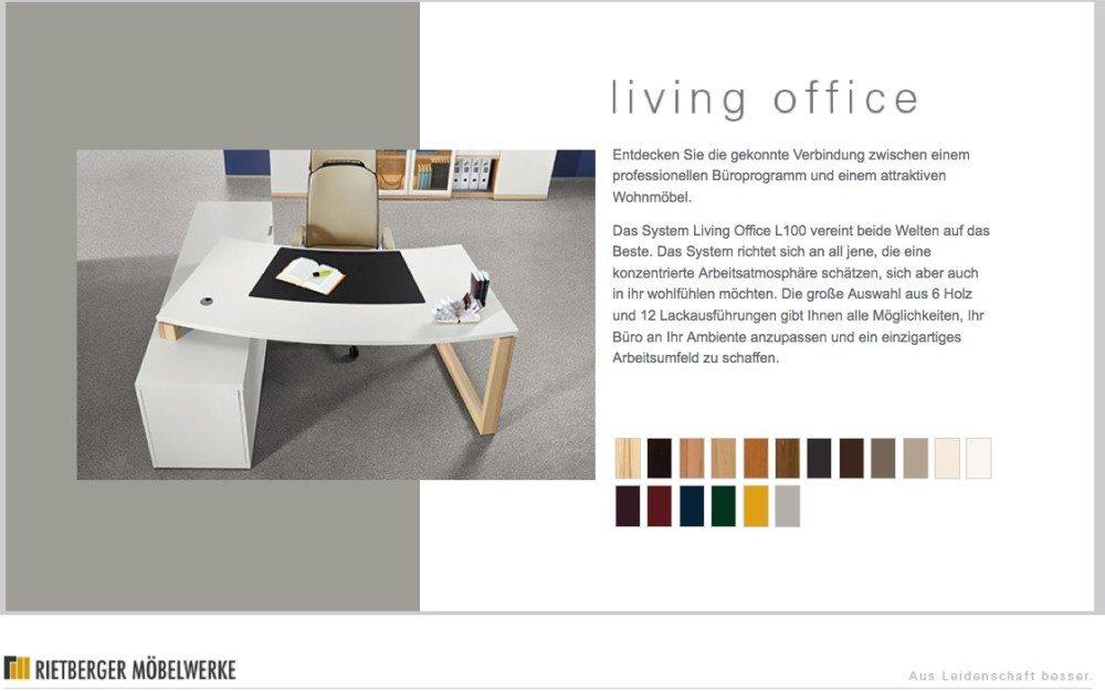 Cockpitförmiger Schreibtisch mit Sideboard von RMW (Screenshot: rmw-wohnmoebel.de)