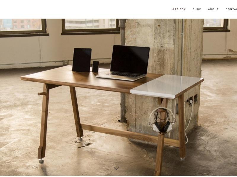 Mit beschreibbarer Arbeitsplatte: The Artifox (Screenshot: theartifox.com)