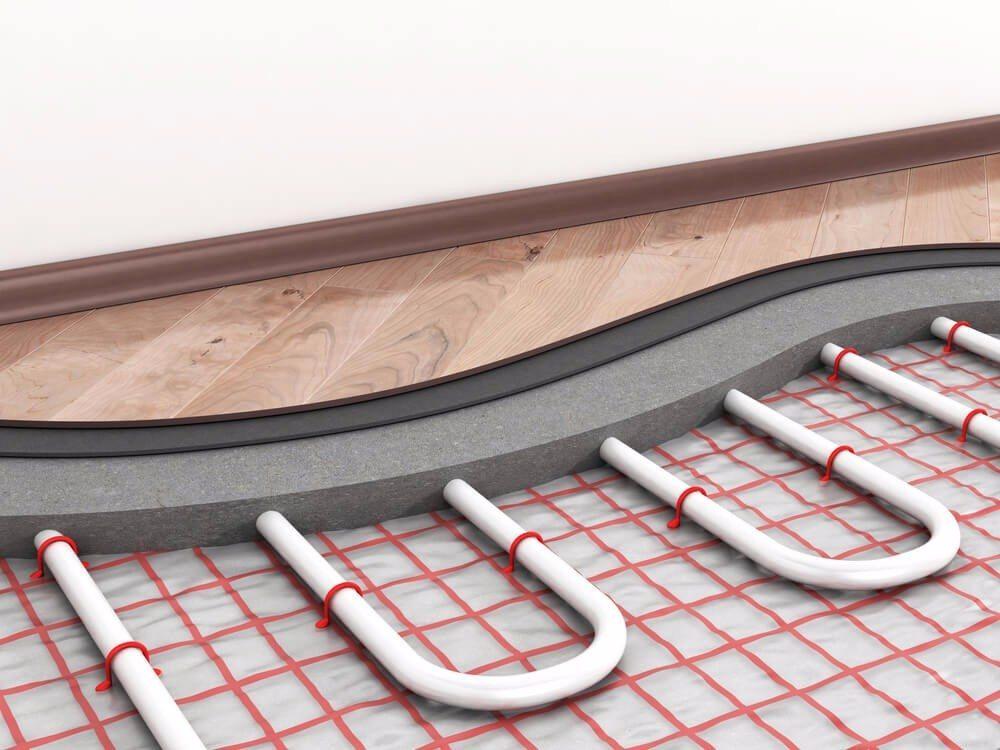 Fussbodenheizung unter Parkett (Bild: © parkett-3d – Shutterstock.com)