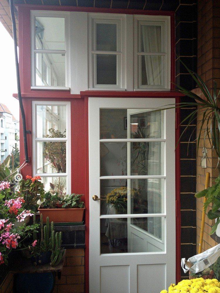 Wie neu: Balkonfenster-Türkonstruktion. (BIld: © VFF/ Hans Timm Fensterbau)