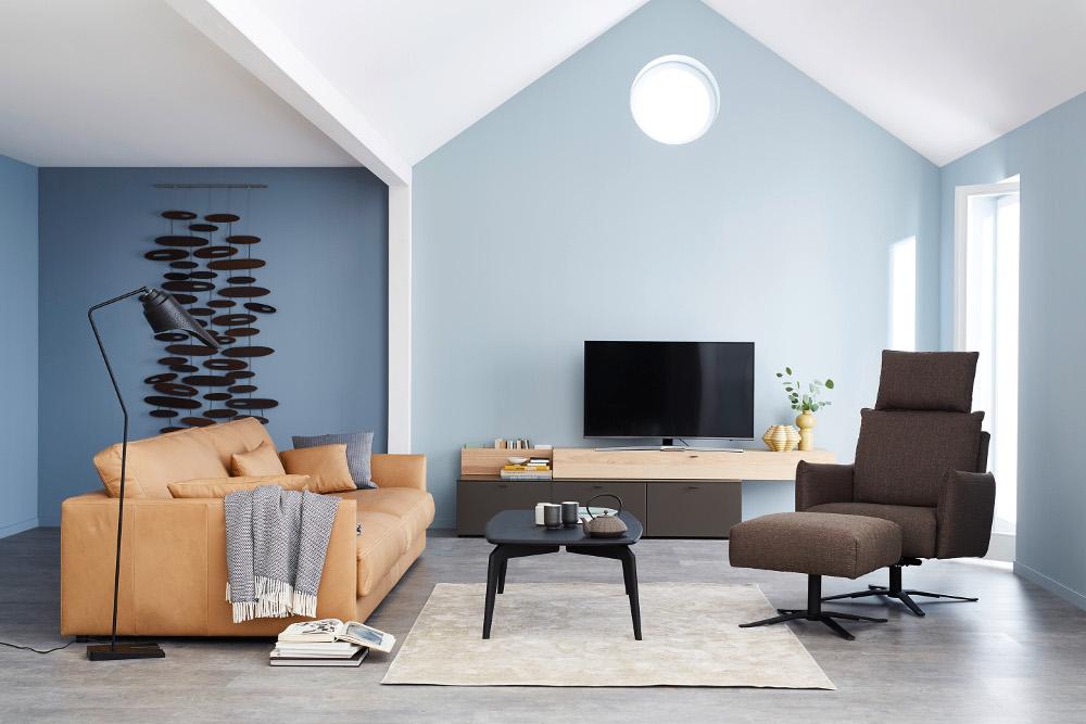 stilsicher einrichten mit der eigenen m belkollektion von sch ner wohnen. Black Bedroom Furniture Sets. Home Design Ideas