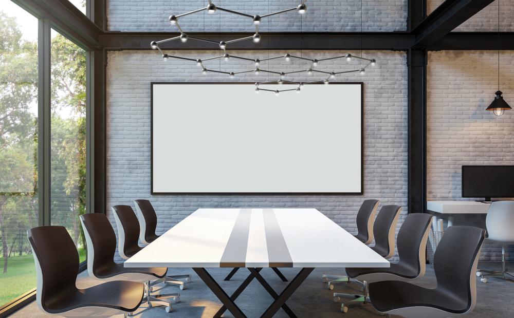Kleinere Flächen wie Konferenzbereiche können mit Favo punktgenau beleuchtet werden. Auch die Variante Favo Light Cell zeigt die charakteristische Wabenstuktur (Favo = italienisch: Wabe). Favo Light Cell ist pro Leuchtenkopf mit einem Spot ausgestattet und nur als Einheit steuerbar. Rendering: SATTLER
