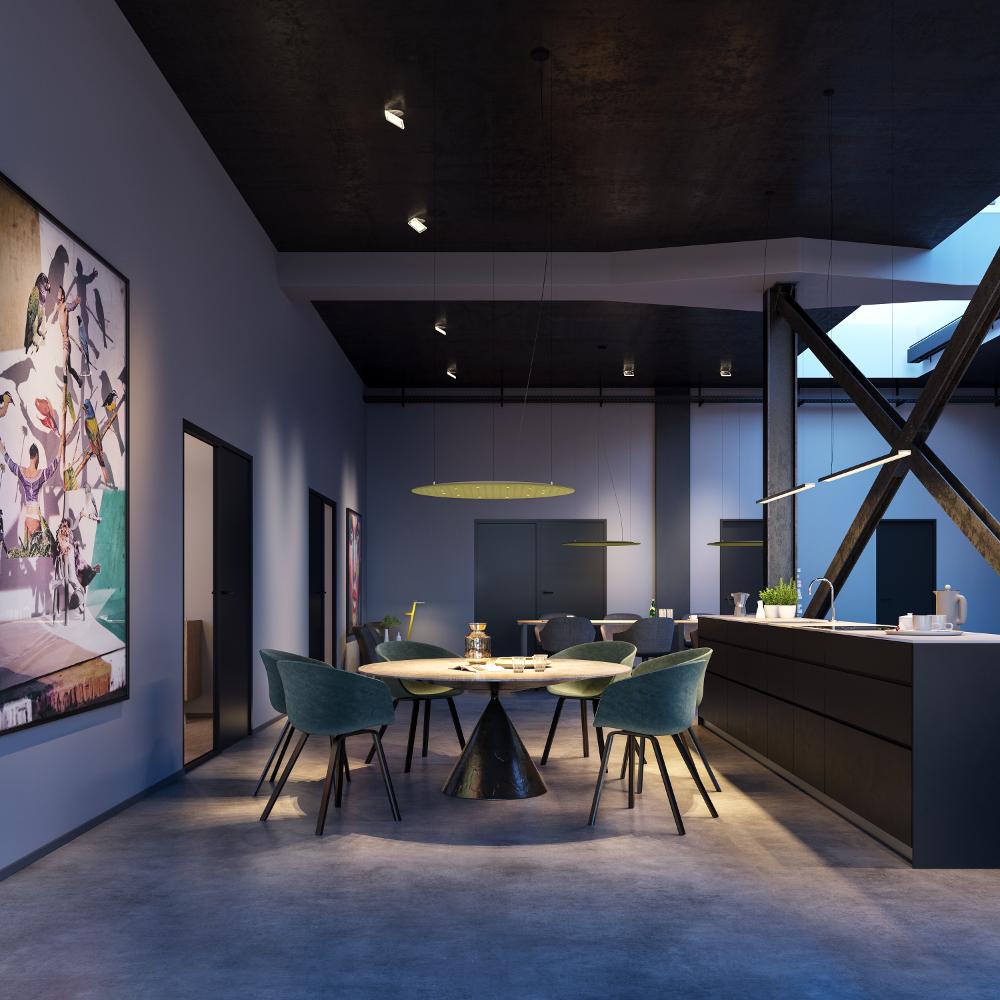 Das Lighting Pad ist ein effizienter Schallabsorber mit brillanter Lichtwirkung. Es kann in Hotels, Foyers, Museen und Büros eingesetzt werden, aber auch im privaten Umfeld – ein ästhetisches und elegant im Raum schwebendes Multitalent. (Bild: DesignRaum GmbH)