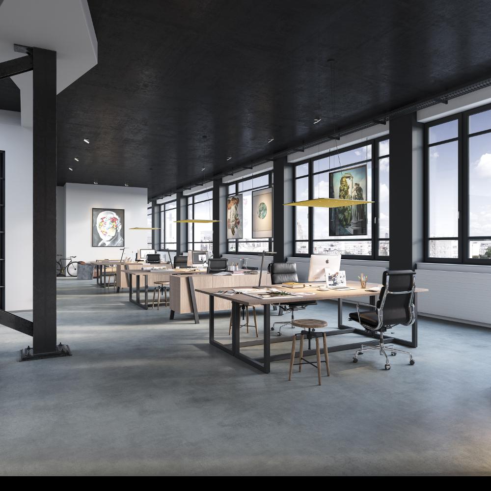 Auch am Arbeitsplatz überzeugt die Licht- und Akustikqualität des Lighting Pads. In verschiedenen Ausführungen erhältlich, lässt sich das innovative Licht- und Akustikmodul der Nimbus Group ideal an das jeweilige Interieur anpassen. (Bild: DesignRaum GmbH)