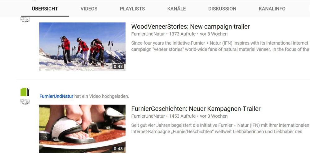 """Der neue Film-Trailer zur Kampagne """"FurnierGeschichten"""" zeigt in kurzen Sequenzen die vielfältigen Einsatzmöglichkeiten von Furnier. (Bild: IFN)"""