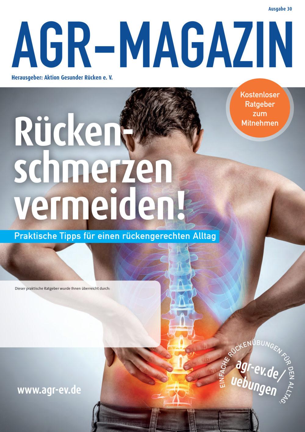 Die 30. Ausgabe des AGR-Magazins ist ab sofort kostenfrei erhältlich. (Bild: obs/AGR)