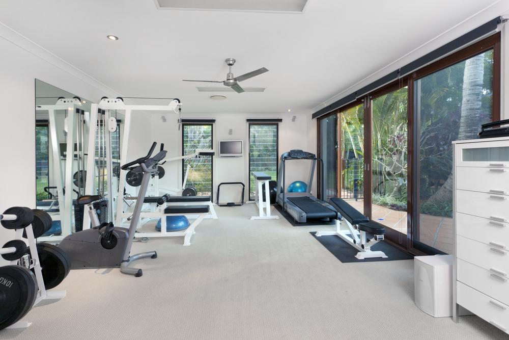 Privater Fitnessraum im Luxusheim